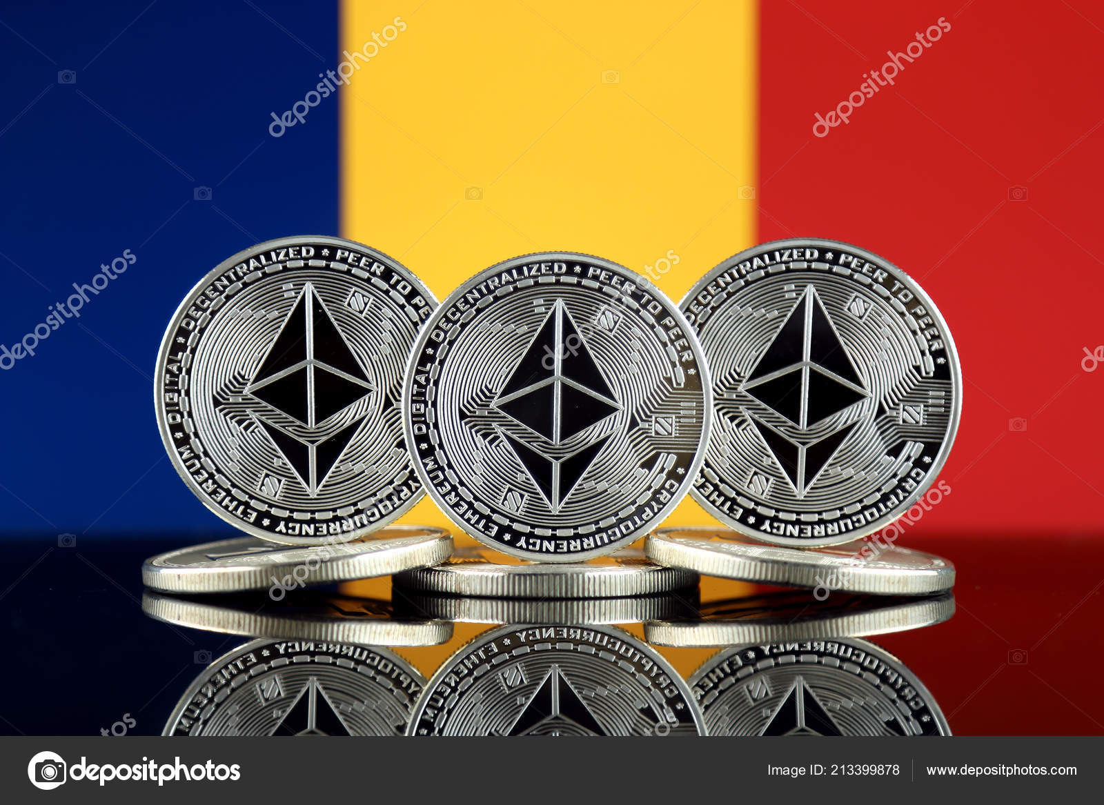 Physical Version Ethereum Eth Chad Flag Conceptual Image