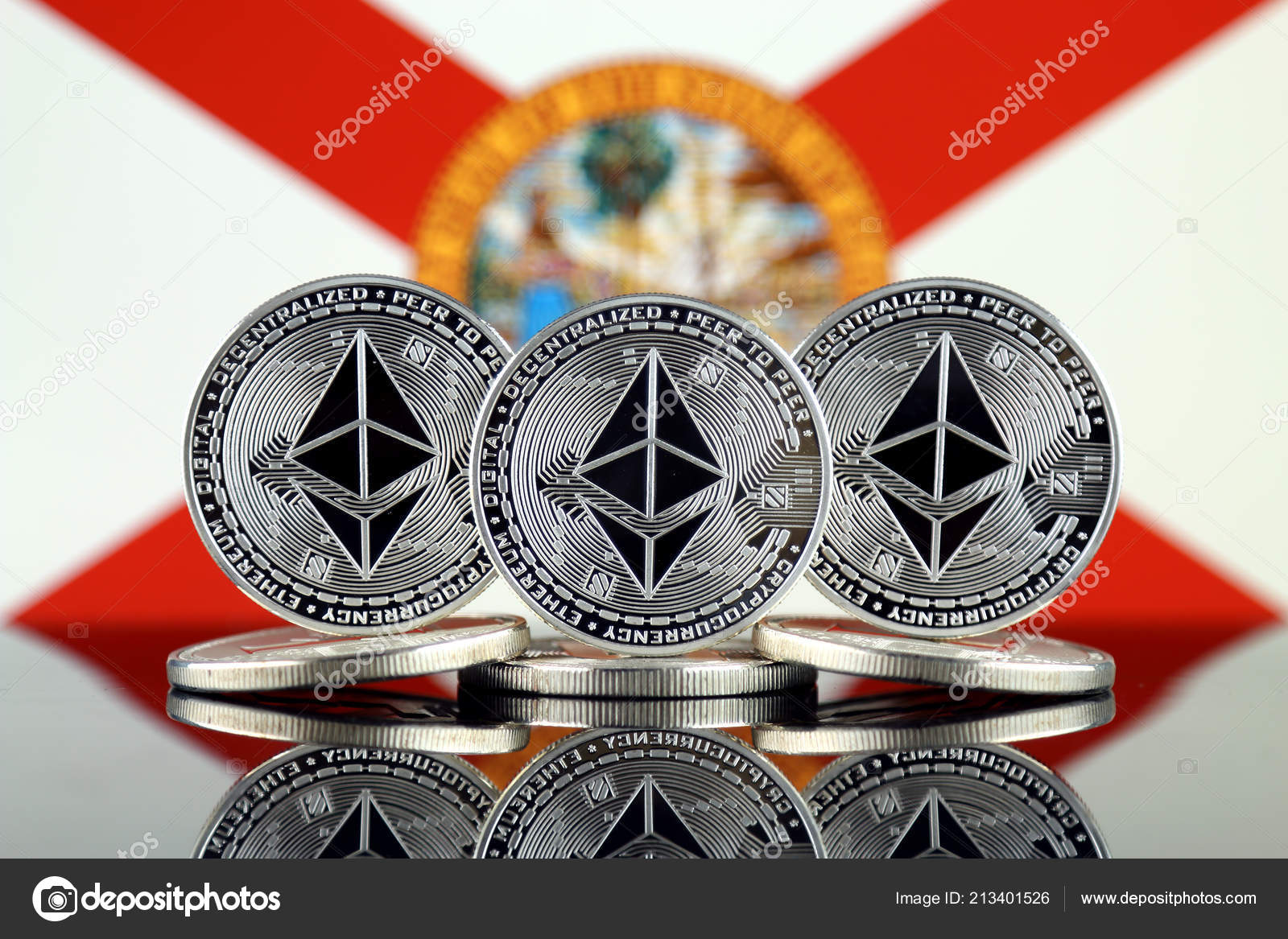 Physical Version Ethereum Eth Florida State Flag Conceptual