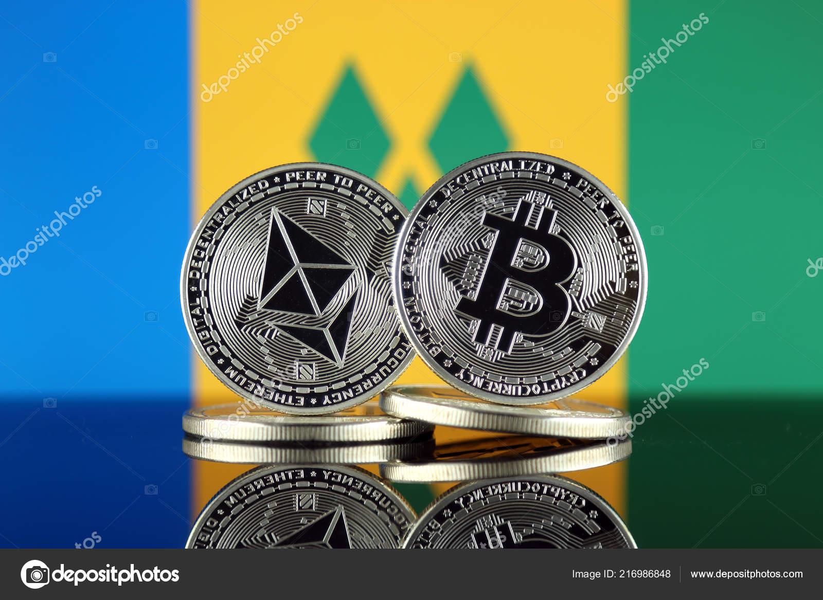 Physical Version Ethereum Eth Bitcoin Btc Saint Vincent