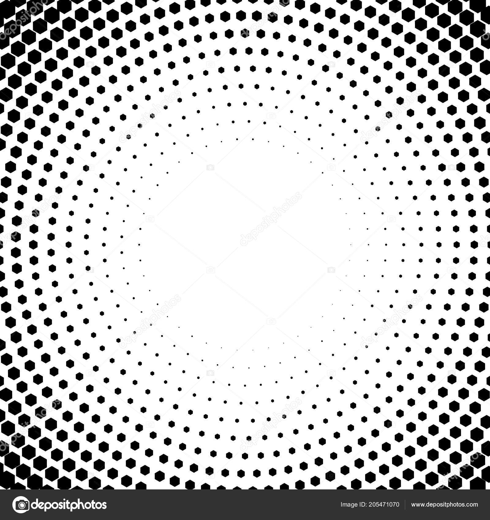 vector circl halftone geometric seamless pattern with cube shapes