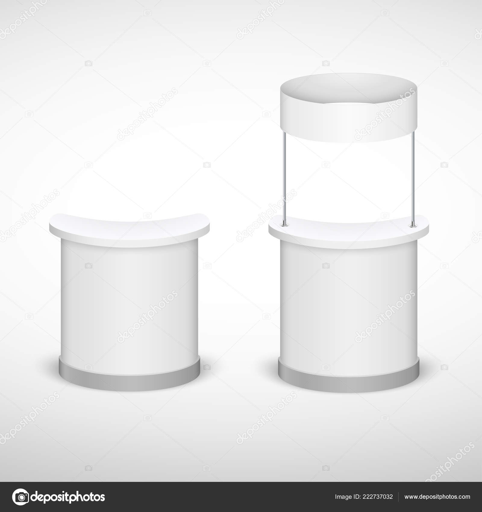 Trade Exhibition Stand Mockup Free : Trade exhibition stand mock up isolated on white background. white