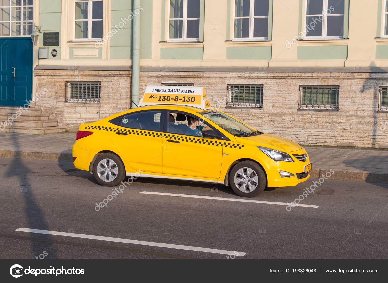 Saint Petersburg Russia July 2017 Yandex Taxi City Street Summer