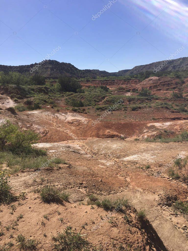 red rocks in Texas desert