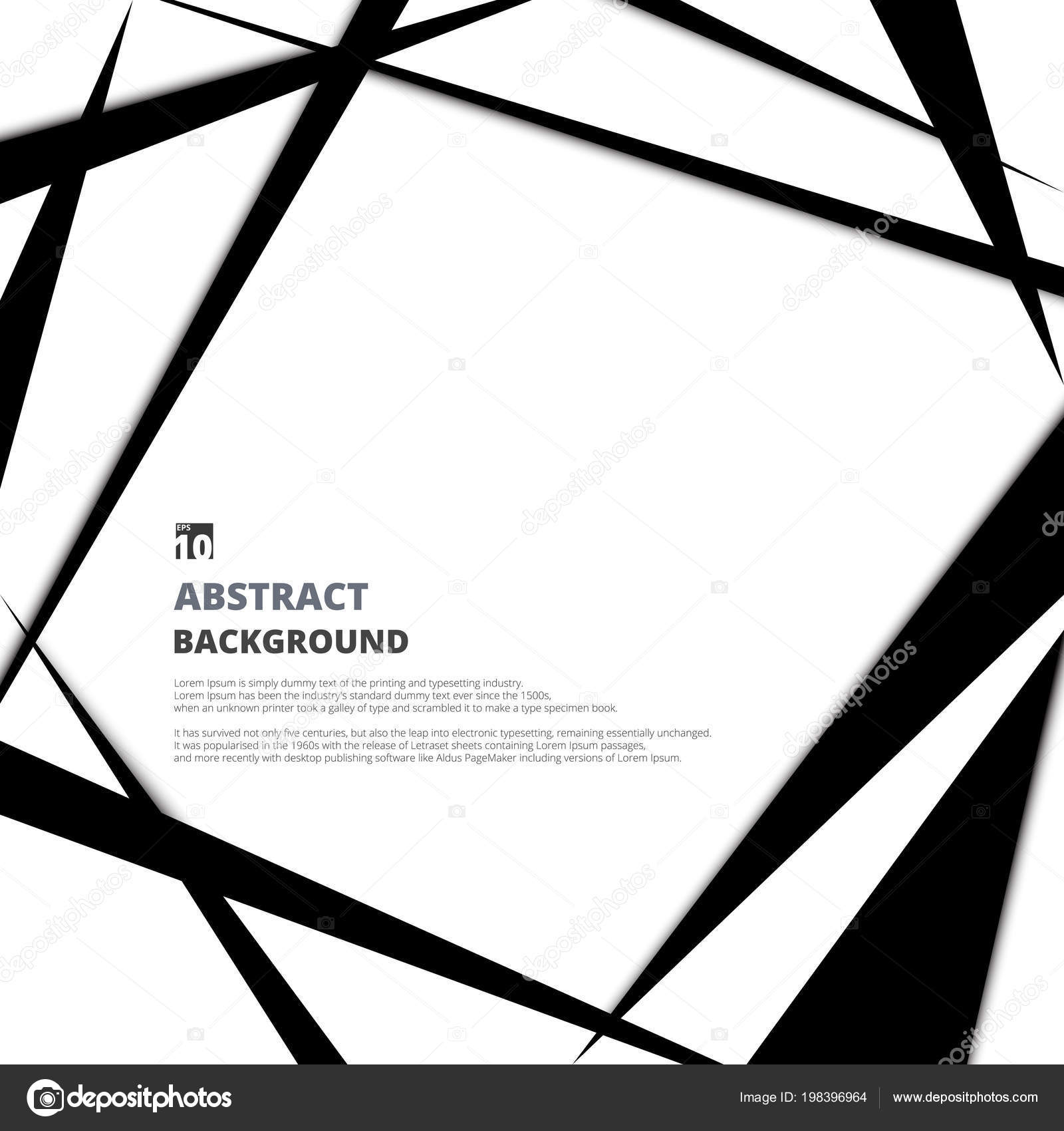 Modern Design Black White Background Copy Space Vector Separating Each