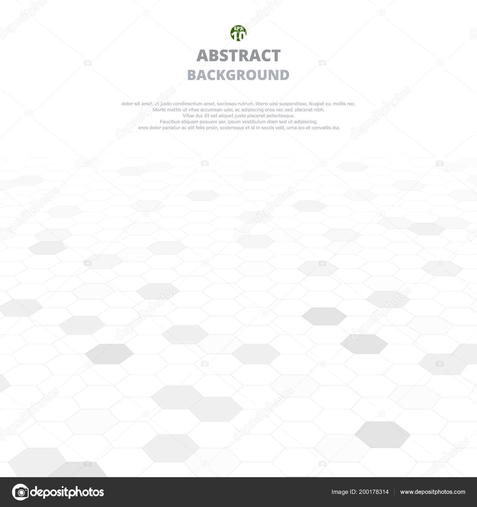 Zusammenfassung Hintergrund Grau Formen Fünfecke Weiße Und Graue