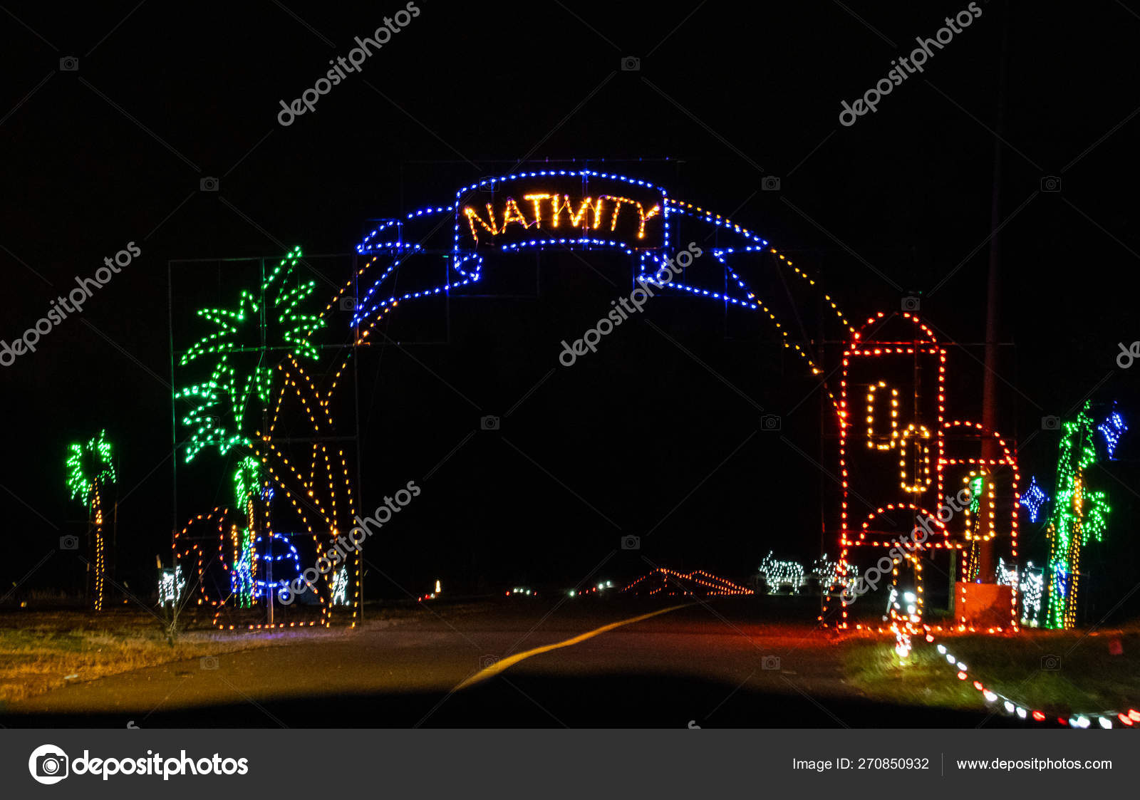 PNC Bank Arts Center Christmas Lights – Stock Editorial Photo