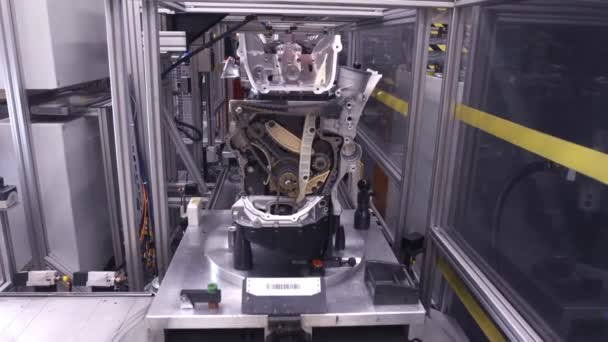 Robots Working On A Car Factory Production Line