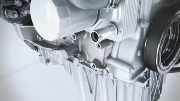 close-up car engine