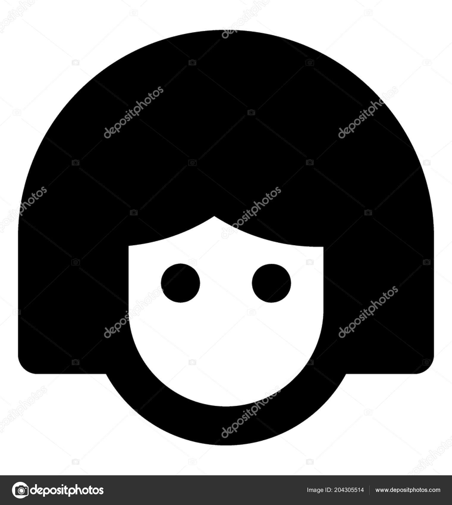 Human Avatar Girl Made Lines Idea Icon Face Unlock App — Stock