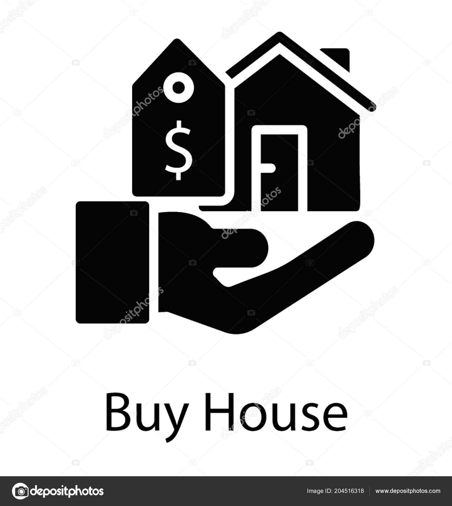 Hand Holding House Building Price Tag Property Valuation