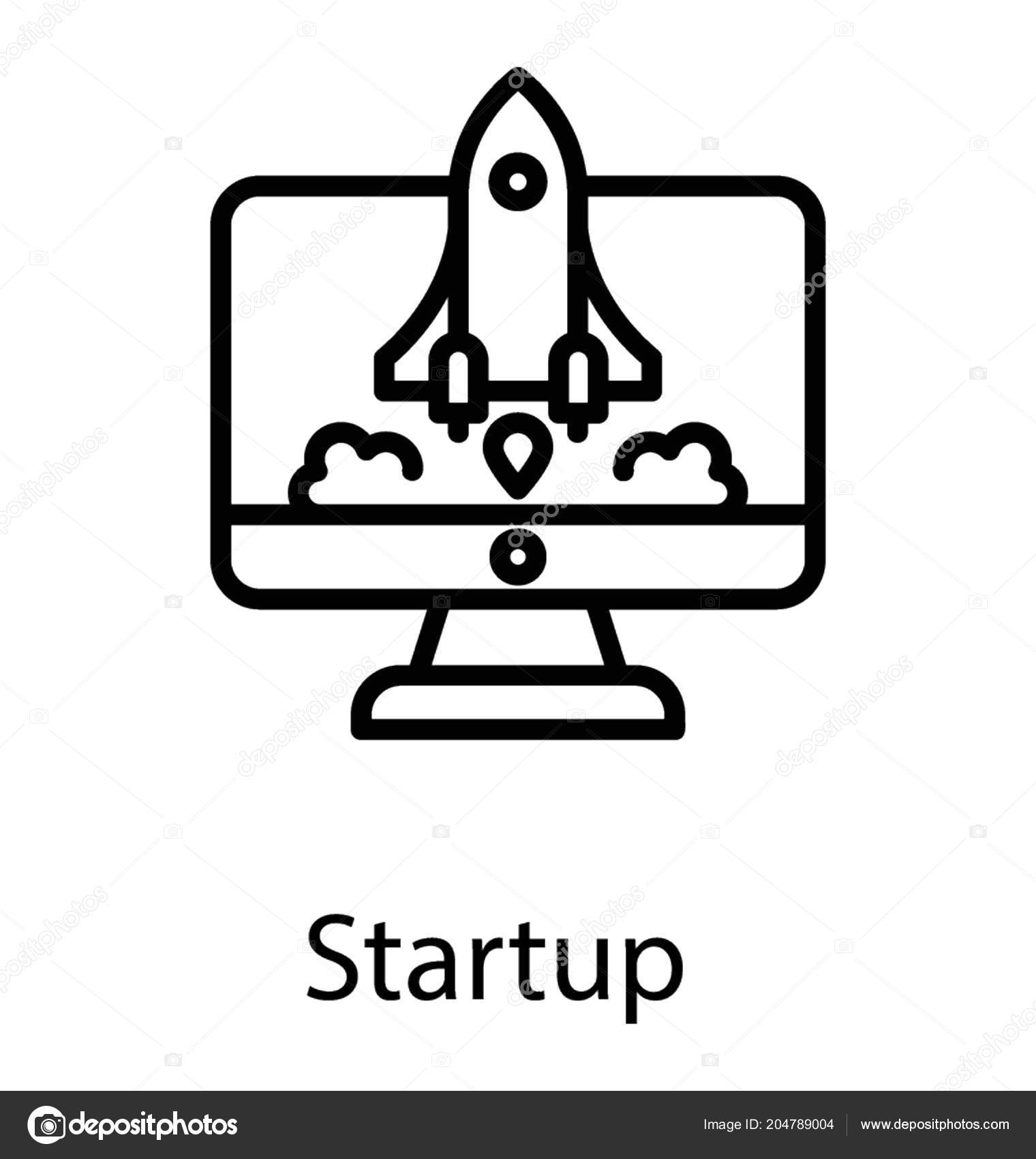 Rocket Launcher Ready Depart Computer Screen Startup Launch Icon