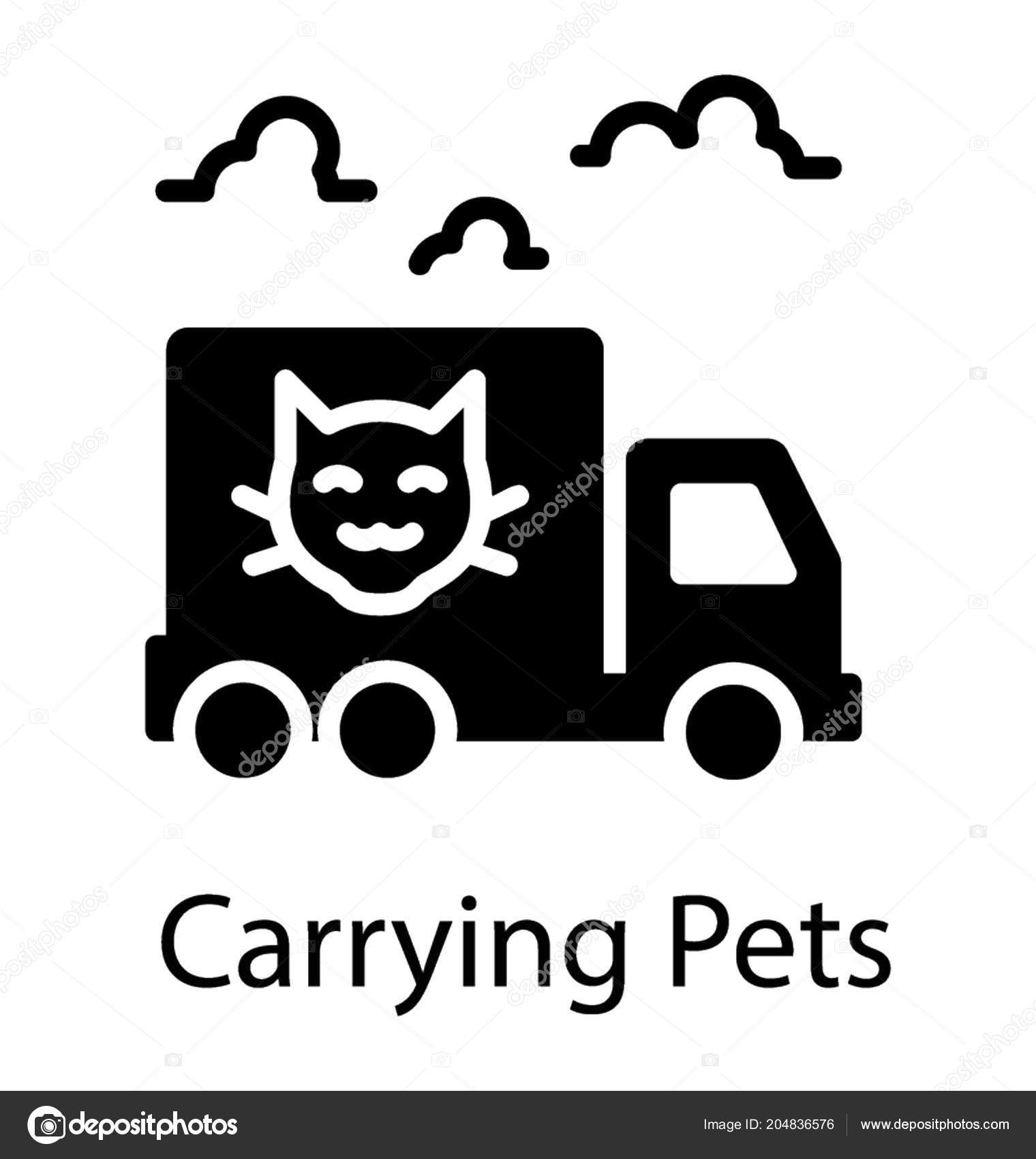 0b19b175026d9f Delivery van moving on roads baptized with cute pet picture symbolising  pets delivery — Vector by prosymbols