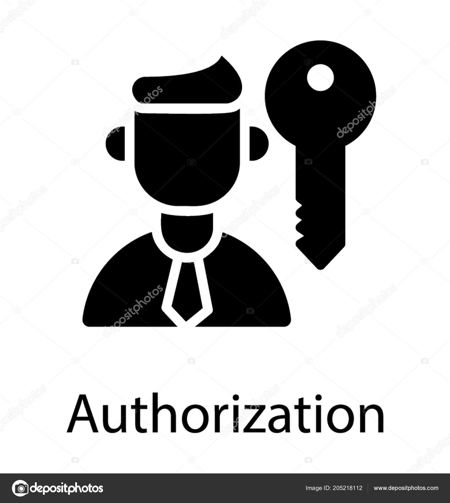 Faceless Human Avatar Lock Key Graphic Authorization Icon