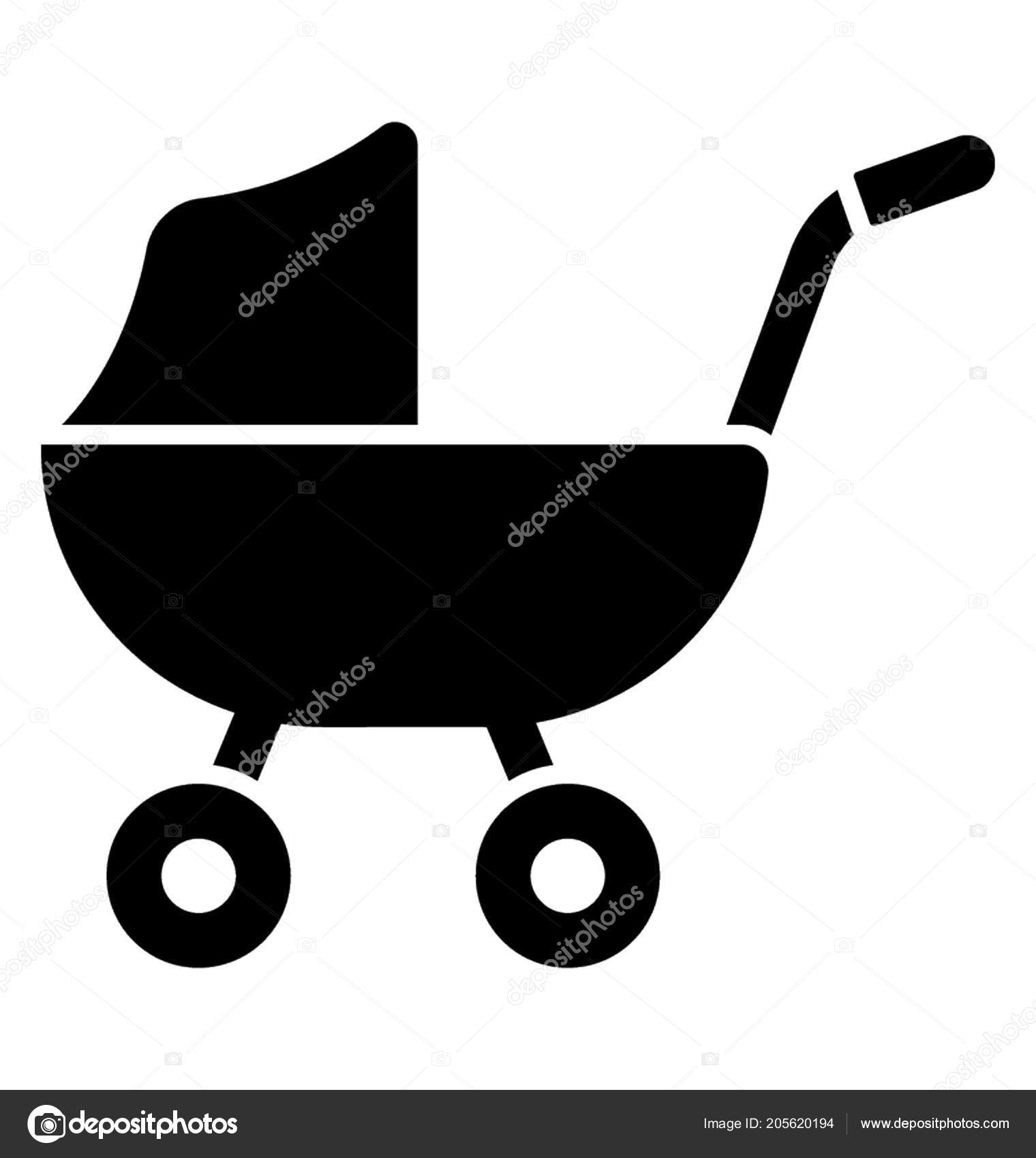 Carrier Attached Wheels Handles Pick Baby Roof Baby Pram Graphic