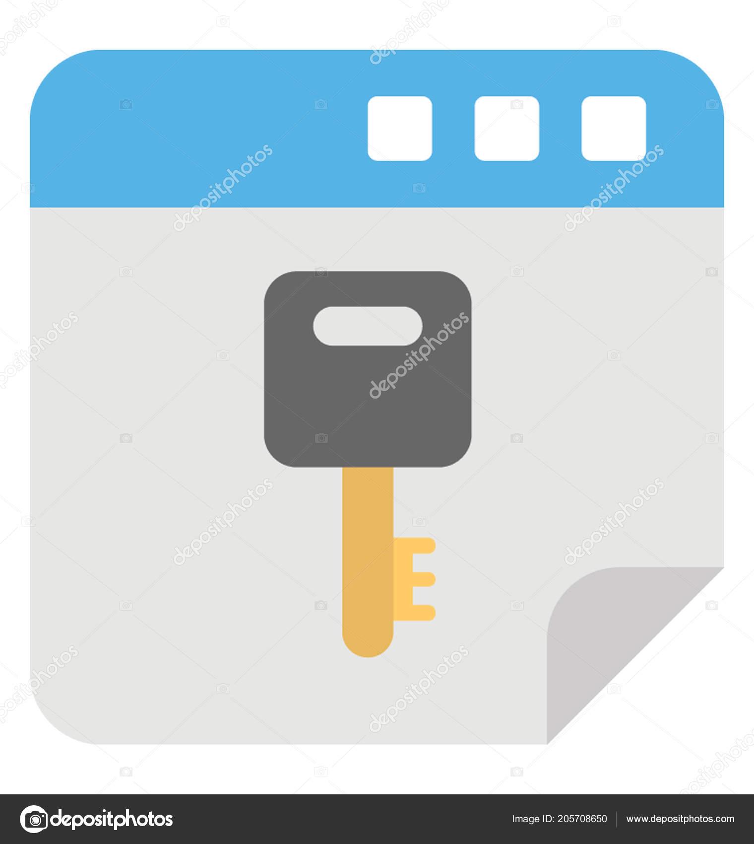 Design Sólido Ícone Uma Chave Site Conceito Otimização Palavras