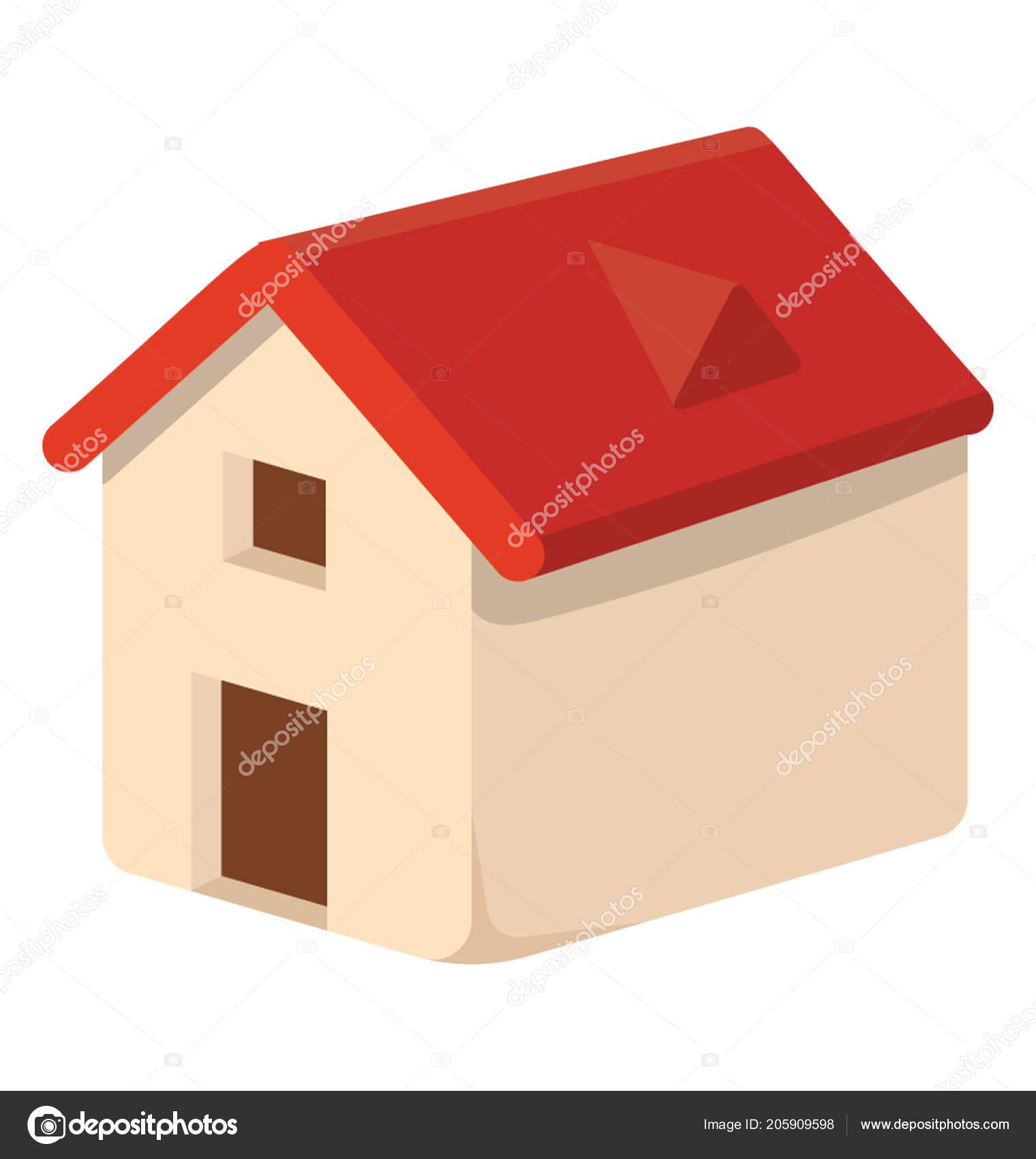 toit de maison dessin Cabane de dessin animé avec porte, place de la ventilation et toit, icône  de maison de chien u2014 Vecteur par ...