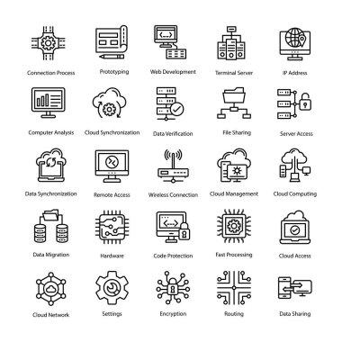 Programming Line Icons Set
