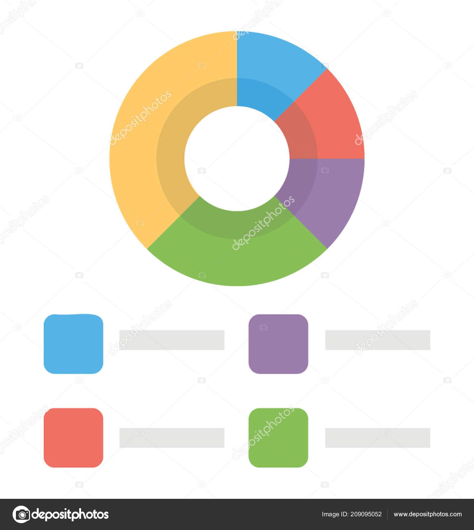 Shape Chart Infographics Depicting Doughnut Chart — Stock Vector