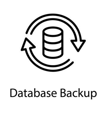 Database updating process is representing database backup