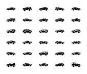 Packung verschiedener Auto-Ikonen