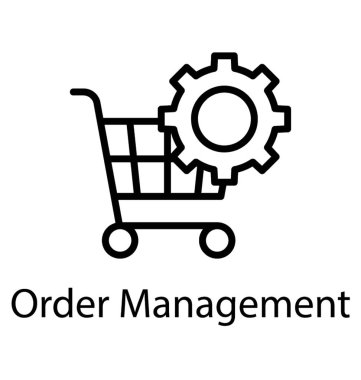 Cart and gear symbolising order management