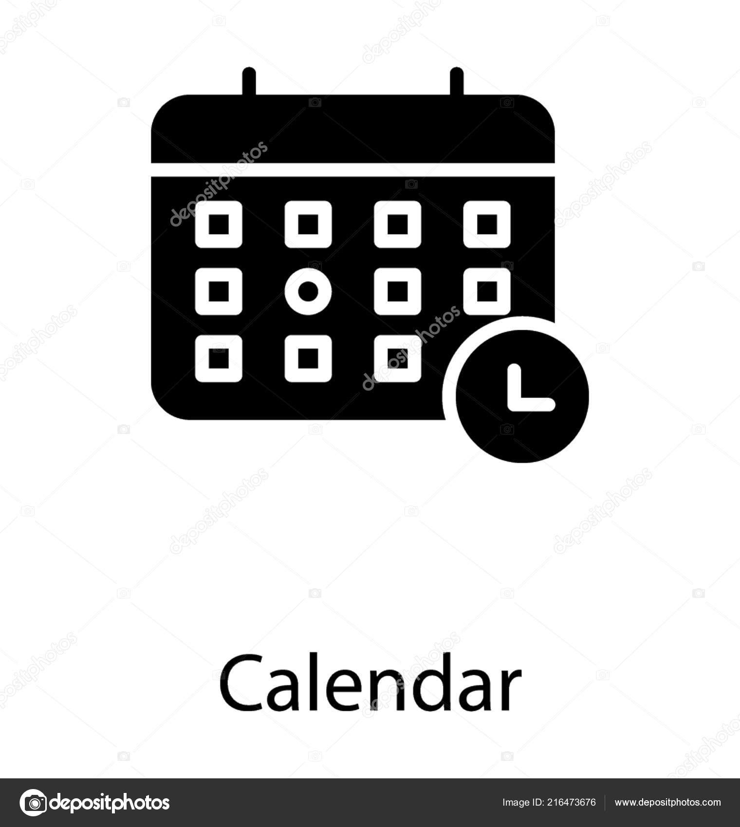 Simbolo Calendario.Calendario Con Simbolo Allarme Calendario Elettronico