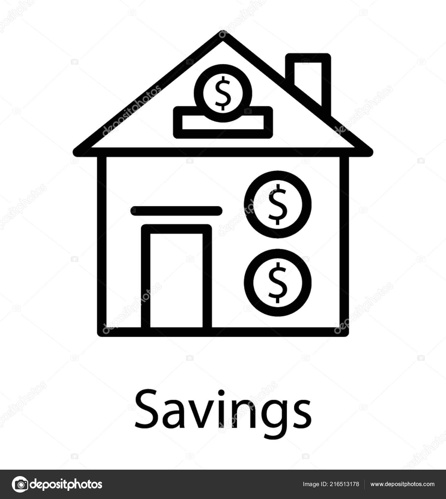Dollar Mit Hausbau Haus Finanzierung Stockvektor C Prosymbols