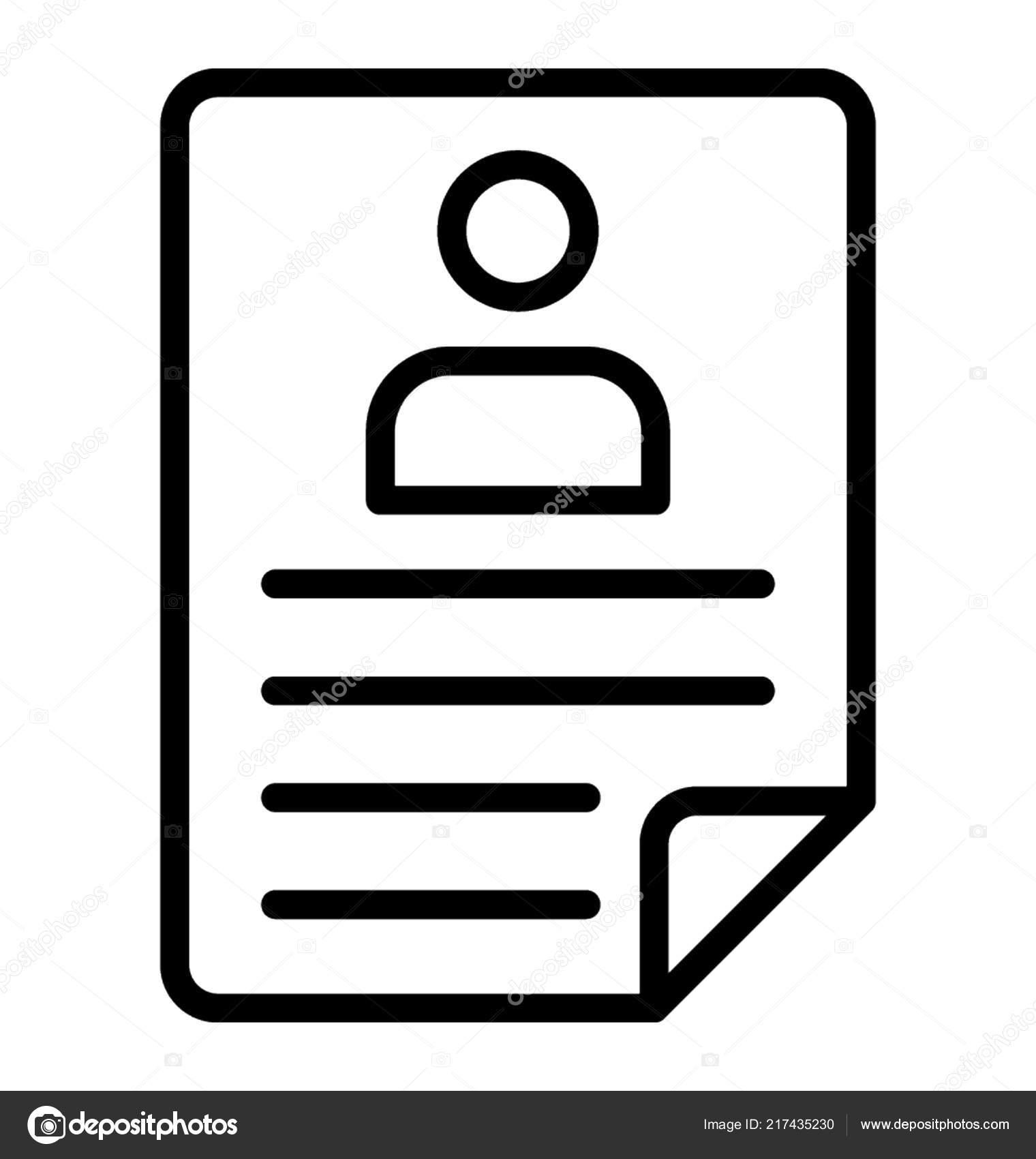 Paper Sheet Human Avatar Giving Idea Resume Stock Vector
