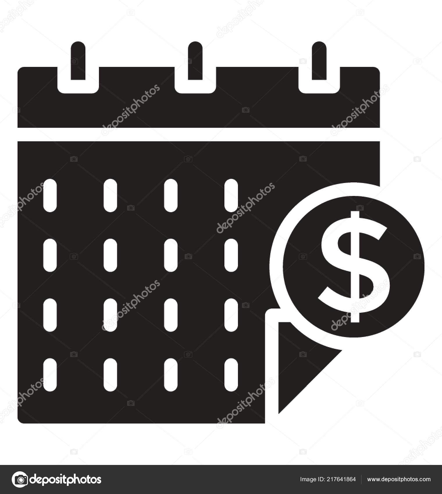 Simbolo Calendario.Calendario Con Simbolo Del Dollaro Icona Calendario