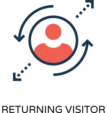 Returning Visitor Colored Vector Icon