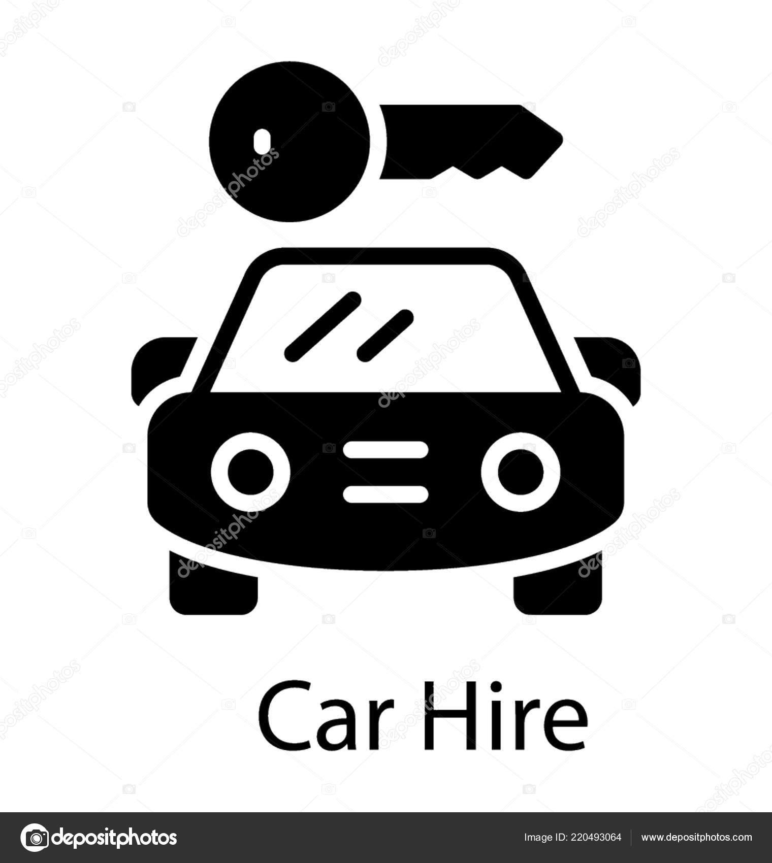 Car Hire Car Rental Icon Stock Vector C Prosymbols 220493064