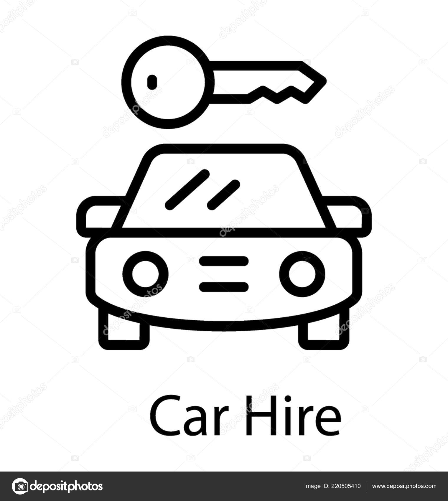 Car Hire Car Rental Icon Stock Vector C Prosymbols 220505410