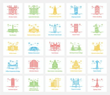 Famous Landmarks Icons Pack