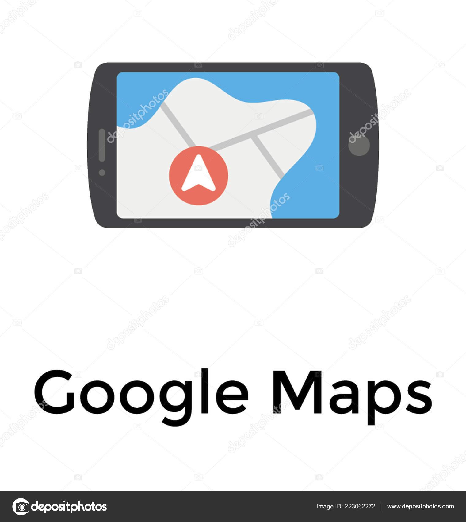 Google Maps Mobile — Stock Vector © prosymbols #223062272