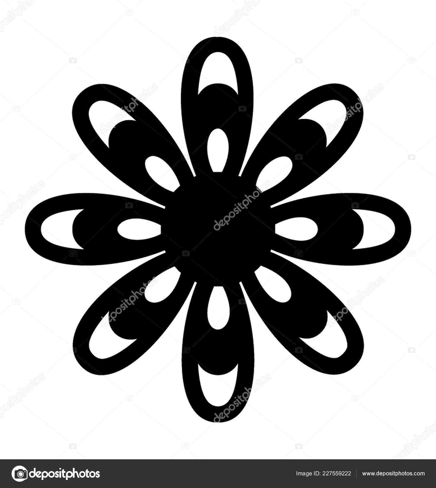 Jasmine Flower Tattoo Designs Jasmine Flower Solid Icon Flower Design Stock Vector C Prosymbols 227559222