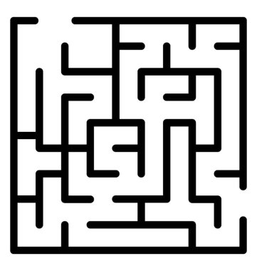 Line icon of a maze, labyrinth design