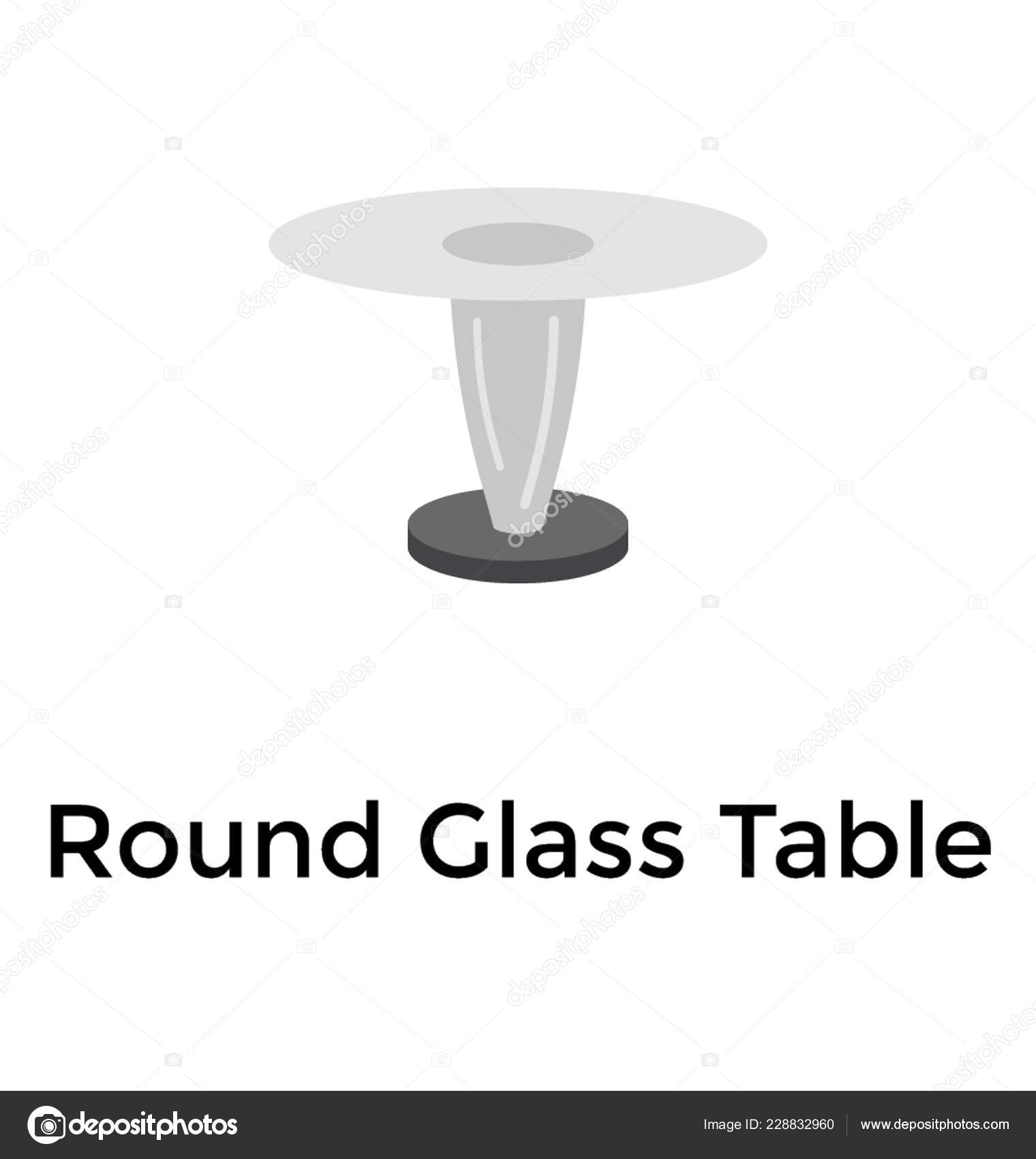 Glass Table Fancy Table Stock Vector C Prosymbols 228832960