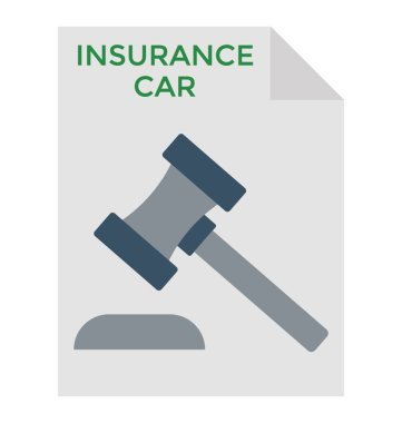 Car insurance agreement flat icon design