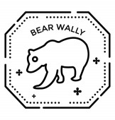 Photo Kids game, bear wally line icon