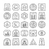Photo Stamps And Monograms Vectors Pack