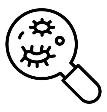 Germs under magnifying glass, Microorganism concept