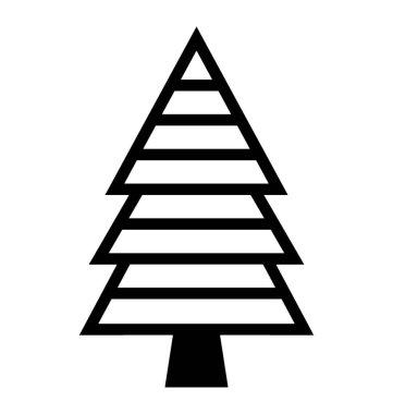 Spruce tree symbols, christmas tree