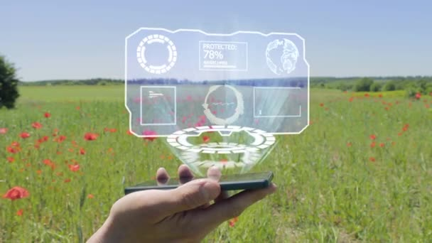 Hologram of HUD screen on a smartphone