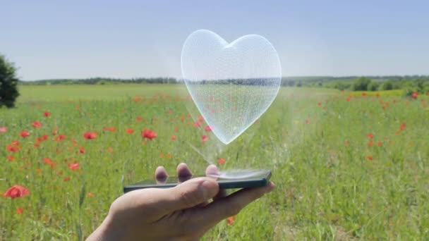 Hologram srdce na smartphone