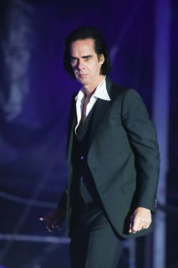 ZAGREB, CROATIA - 26th June, 2018 : Nick Cave & The Bad Seeds performs on the Main stage during the second day of 13th INmusic festival located on the lake Jarun in Zagreb, Croatia.