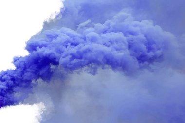 """Картина, постер, плакат, фотообои """"синий дым, изолированный на белом фоне ."""", артикул 207221736"""
