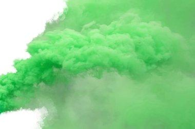 """Картина, постер, плакат, фотообои """"зеленый дым, изолированный на белом фоне ."""", артикул 207221754"""