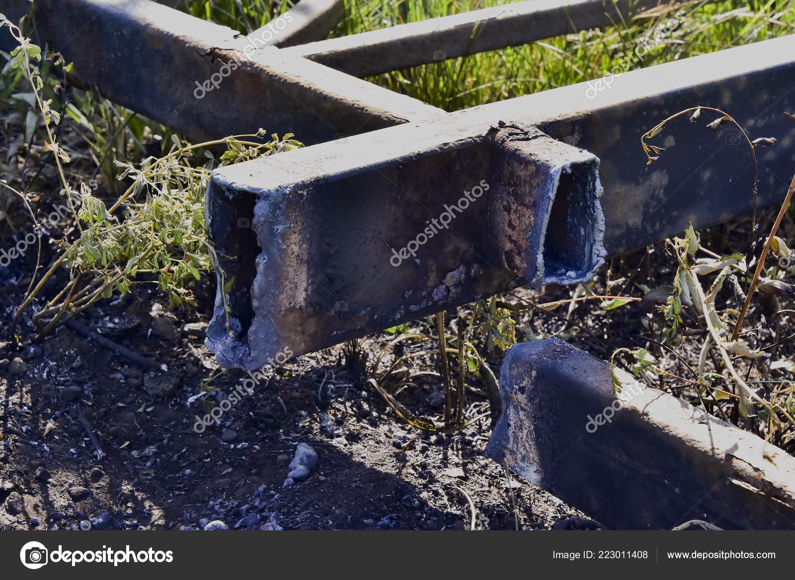 Estructuras Metálicas Después Corte Gas Metal Fundido