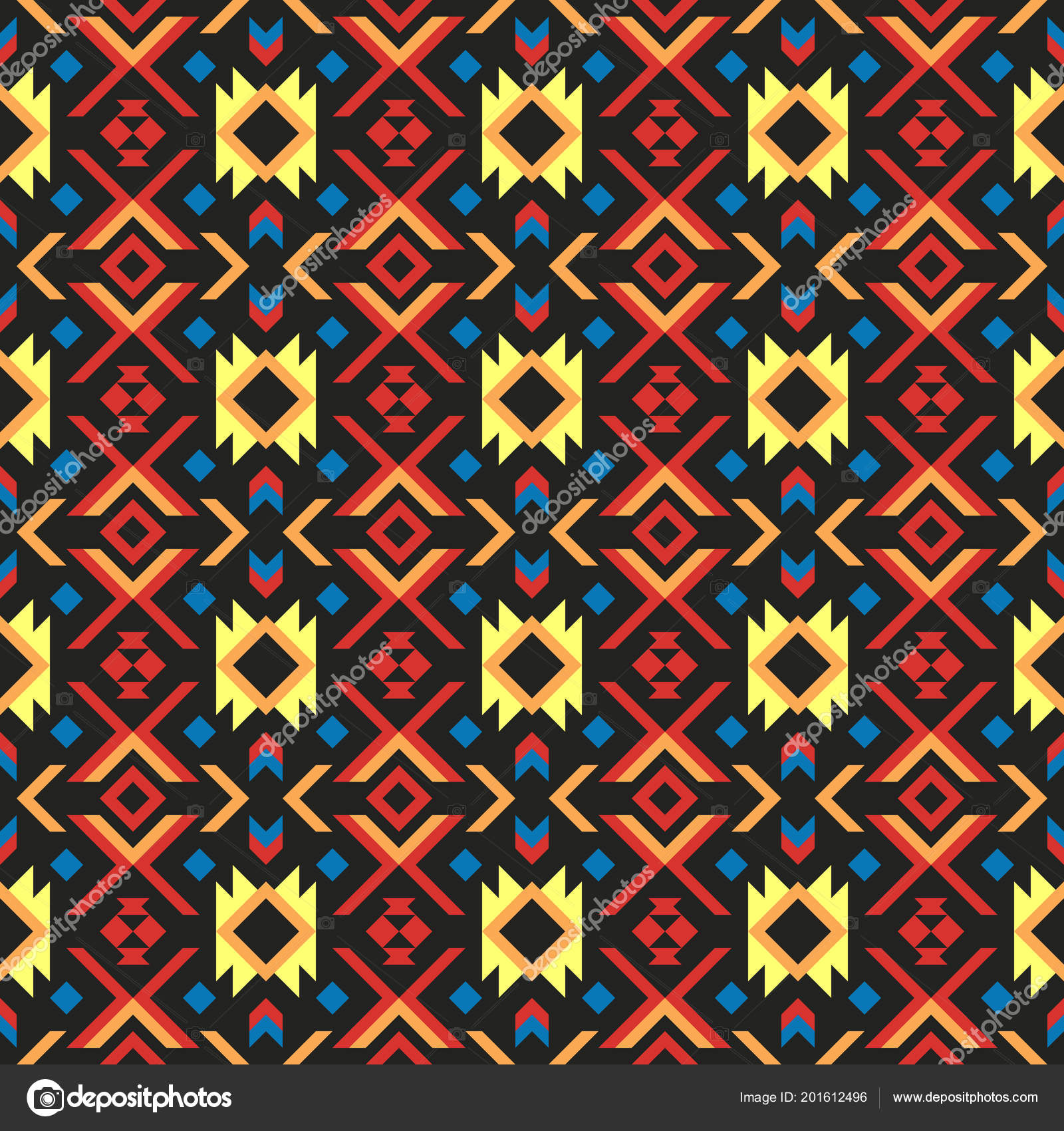 Abstract Ethnic Geometric Pattern Design Background Wallpaper