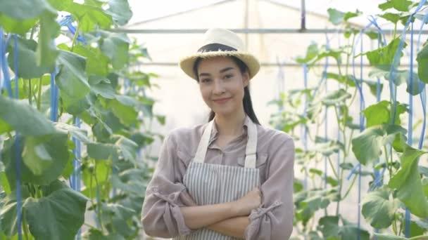 Zemědělské koncepce. Zahradníci stojí s důvěrou ve své vlastní produkty. Rozlišení 4k.
